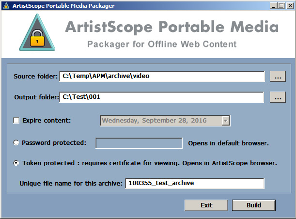 ArtistScope Portable Media Packager