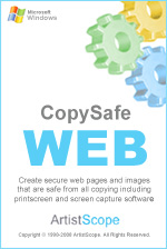 Copy protect web pages and images from all copying and save.