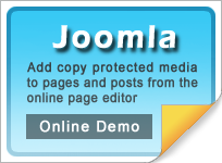 Copy protect Joomla web media