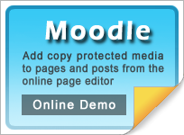 Copy protect Moodle web media
