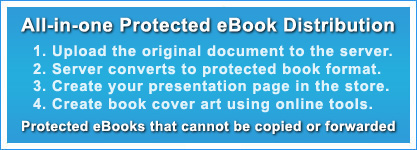 All-in-one copy protected ebook service - protected from sales to delivery