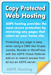 Copy protect any web page anywhere