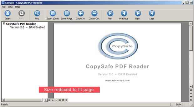 Click to view Copysafe PDF Reader screenshots