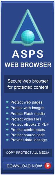 Secure web browser for copy protected web sites